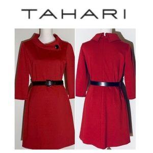 Tahari belted dress